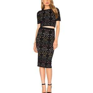 Alice + Olivia Crop Top and Skirt Set